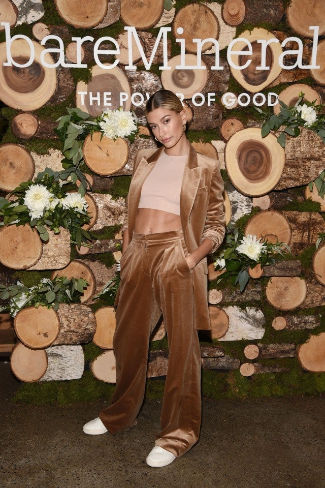 Hailey Baldwin at Bare Minerals event