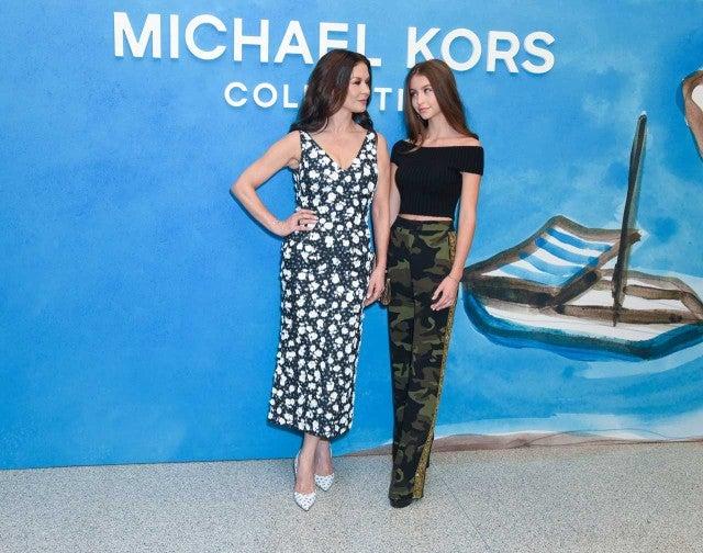 Catherine Zeta-Jones and daughter Carys Zeta Douglas at 2018 NYFW