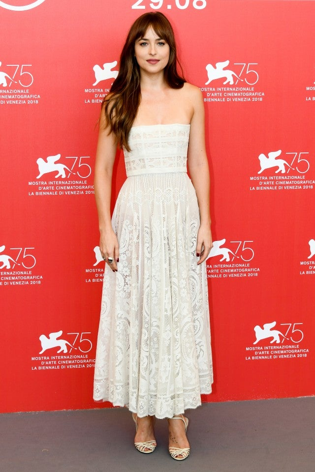 Dakota Johnson attends 'Suspiria' photocall during the 75th Venice Film Festival at Sala Casino on September 1, 2018 in Venice, Italy.