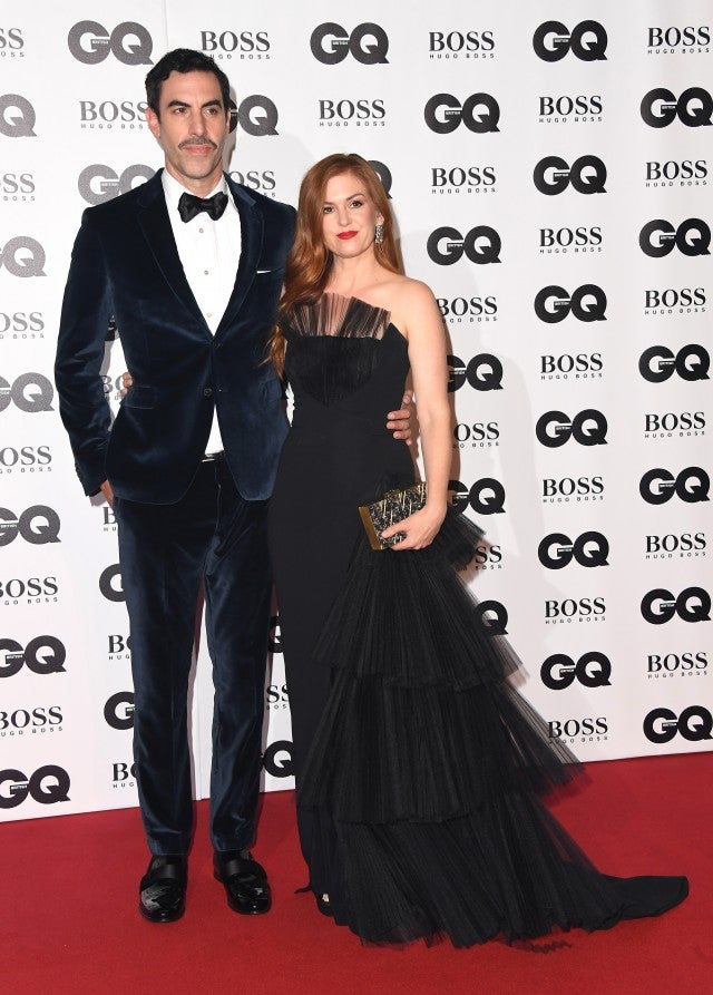 Sacha Baron Cohen Isla Fisher GQ Men of the Year Awards