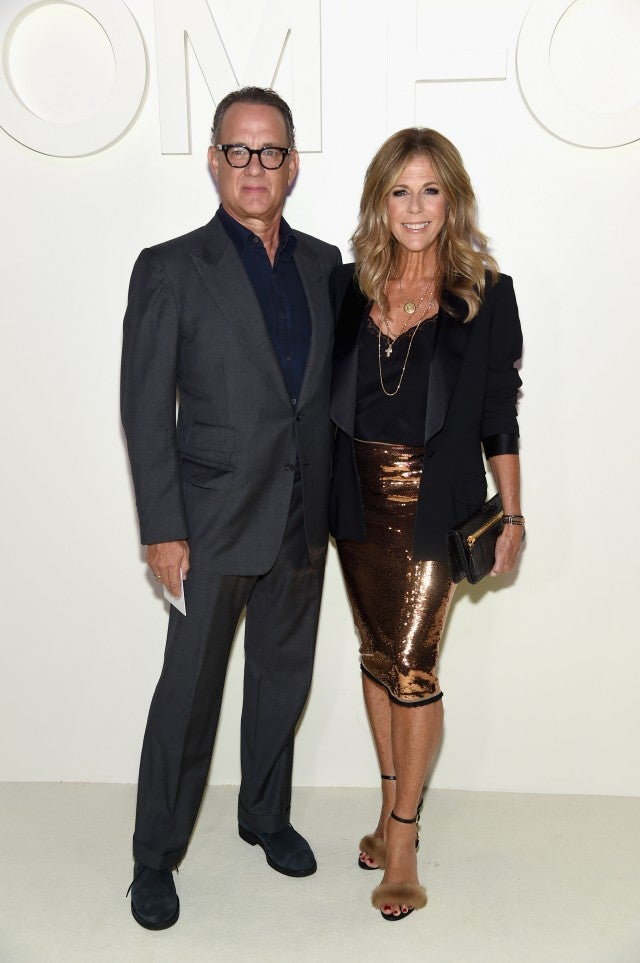 Tom Hanks and Rita Wilson at Tom Ford NYFW