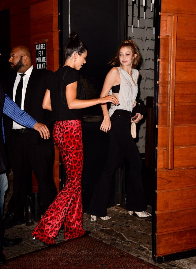 Gigi Hadid with Kendall Jenner at 1 OAK