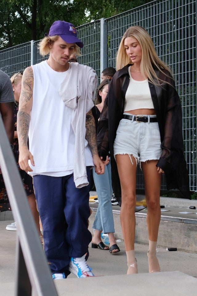 Justin Bieber and Hailey Baldwin John Eillott show getty