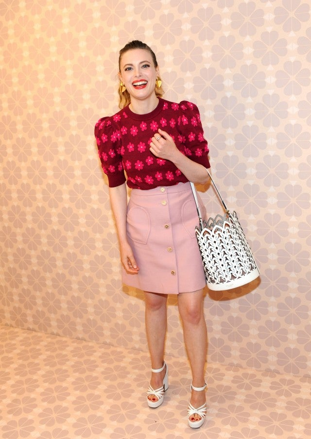 Gillian Jacobs at Kate Spade show