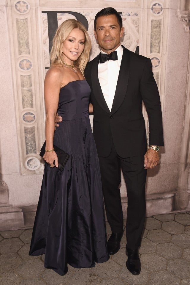 Kelly Ripa and Mark Consuelos Ralph Lauren show