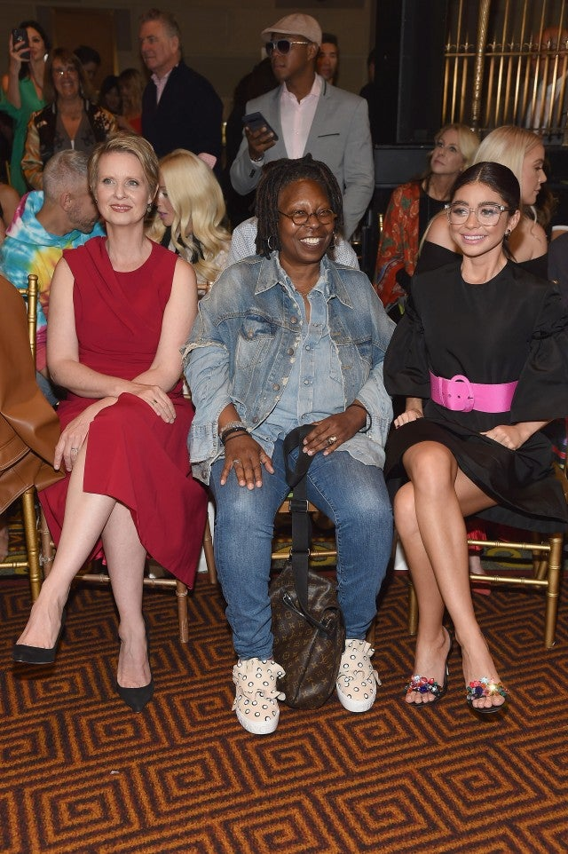 Whoopi Goldberg, Sarah Hyland and Cynthia Nixon at Christian Siriano