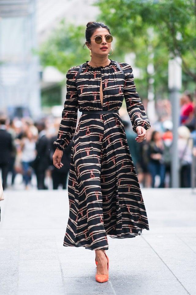 Priyanka Chopra in Longchamp dress