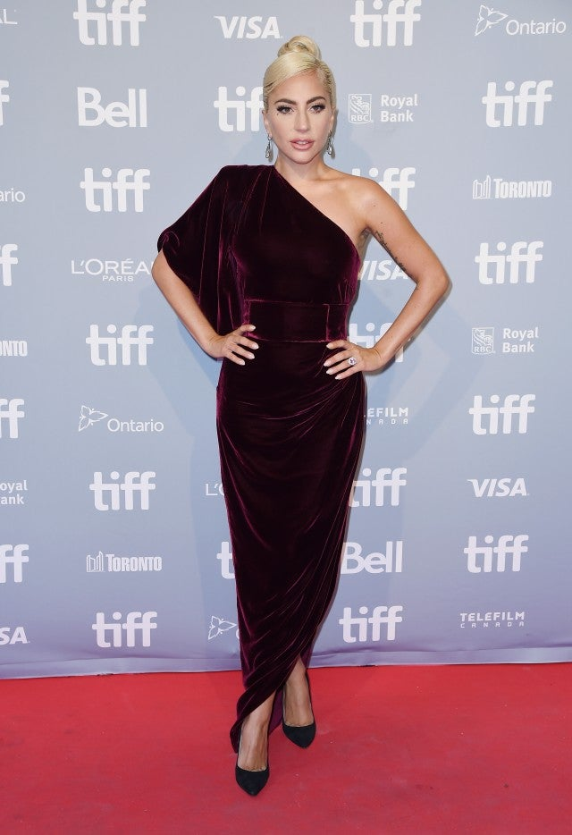 Lady Gaga in velvet at TIFF 2018