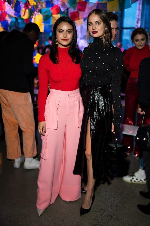 Camila Mendes and Debby Ryan at Prabal Gurung show