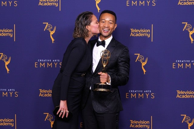 Chrissy Teigen and John Legend at 2018 Creative Arts Emmy Awards