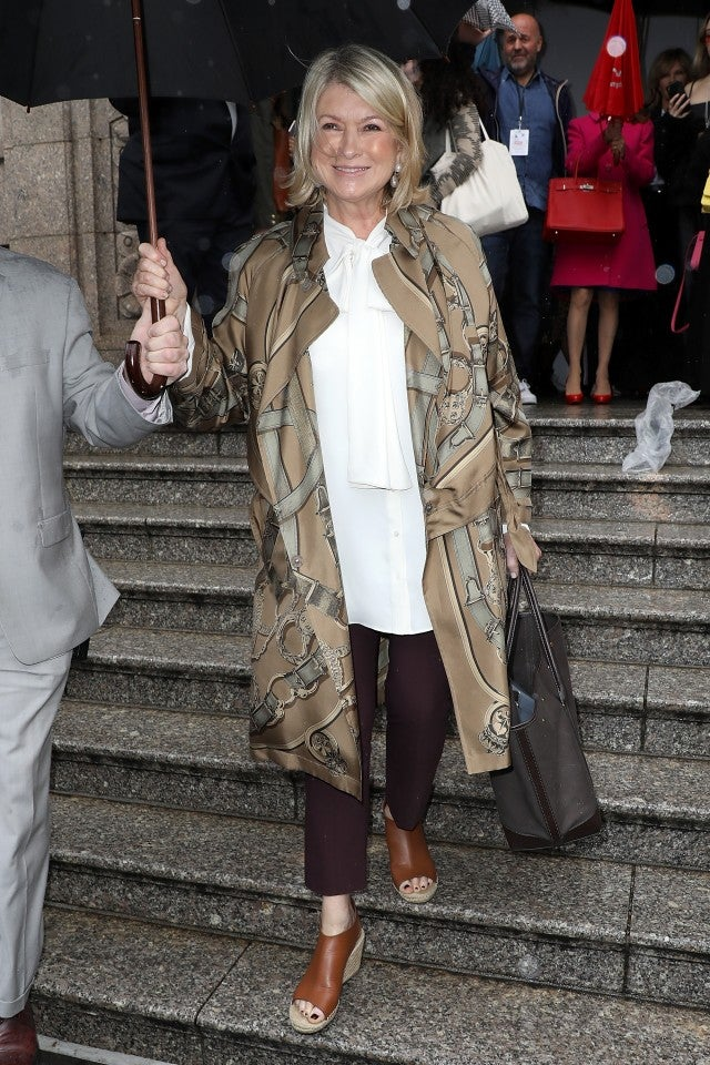 Martha Stewart at Carolina Herrera show
