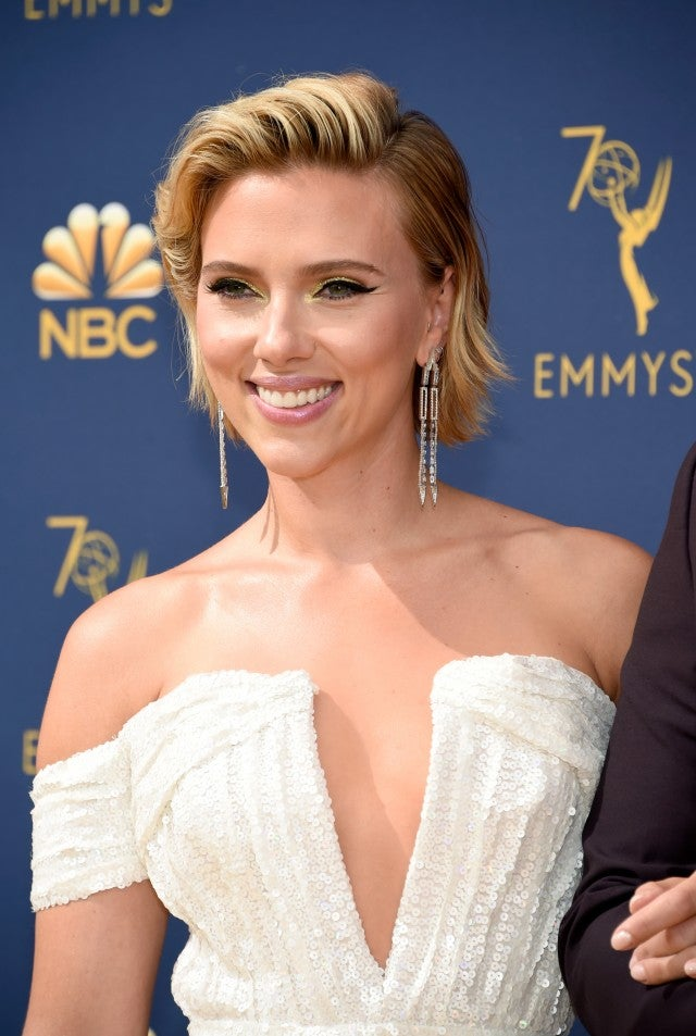 Scarlett Johansson at Emmys 2018 close up