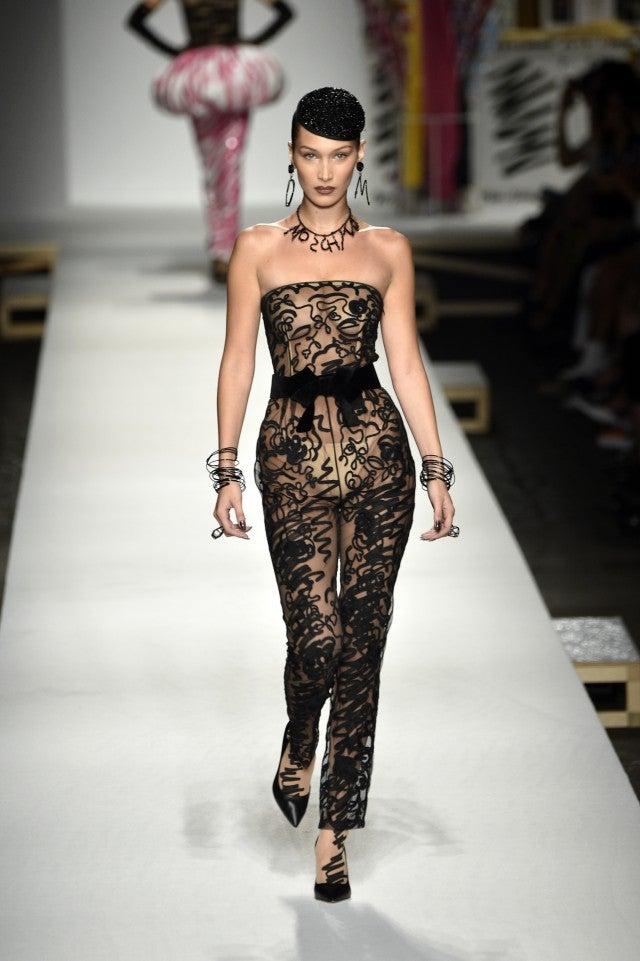 Bella Hadid Moschino runway