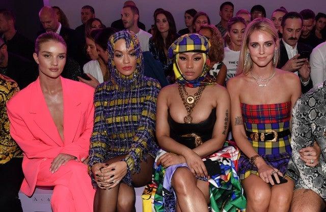 Rosie Huntington-Whiteley, Rita Ora, Nicki Minaj and Chiara Ferragni  Versace