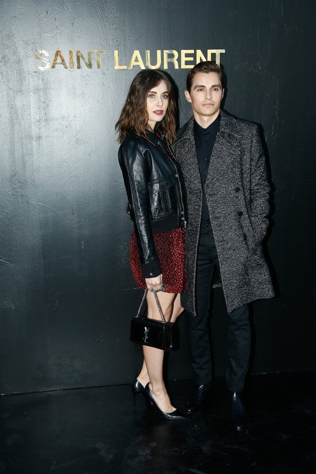 Alison Brie and Dave Franco at Saint Laurent