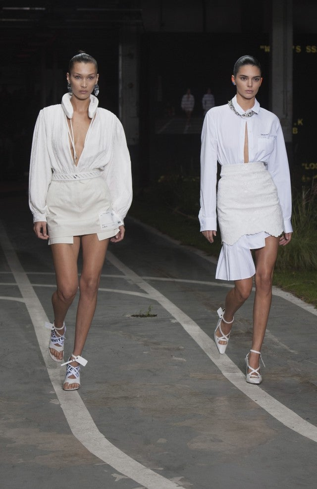 Kendall Jenner and Bella Hadid at Off-White