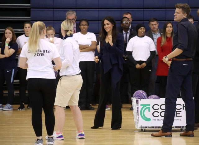 Meghan's on the ball as she attends coaching event