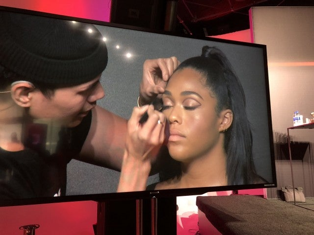 Jordyn Woods graphic eye by Patrick Ta