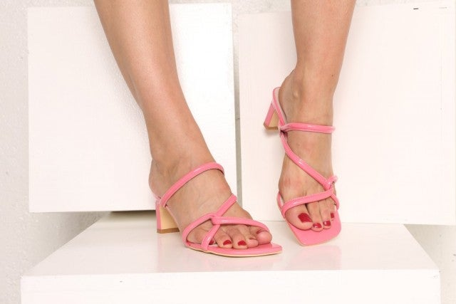 Intentionally Blank pink sandals