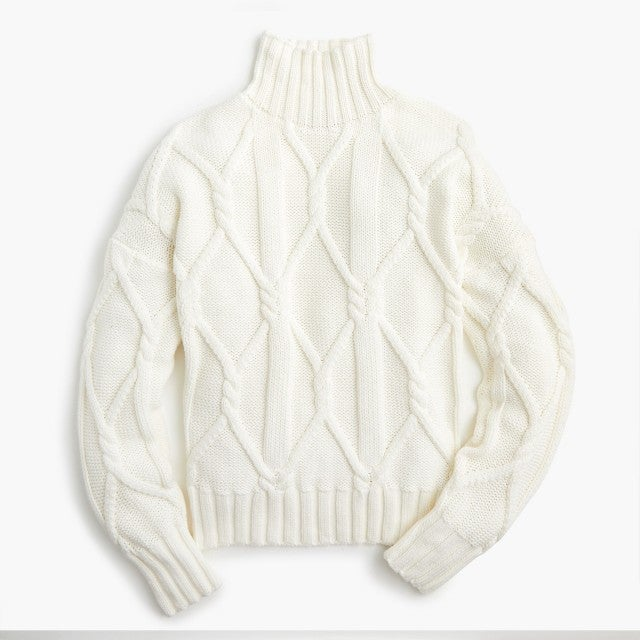 J.Crew cable knit sweater