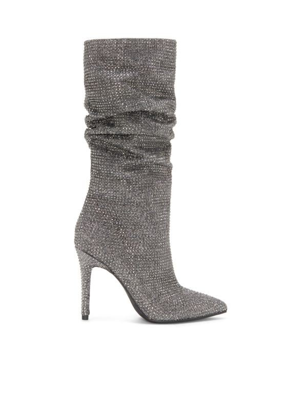 Jessica Simpson silver boots