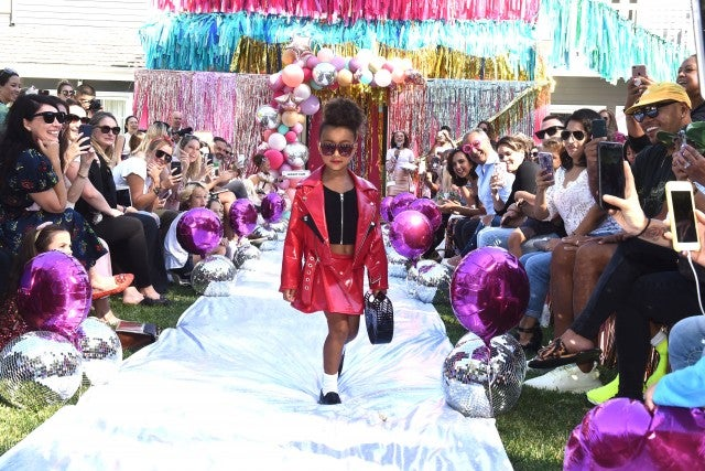 North West makes runway debut