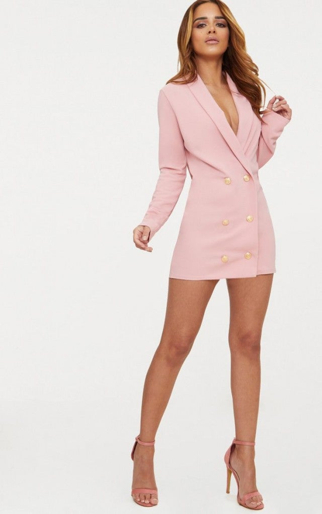 Pretty Little Thing pink blazer dress