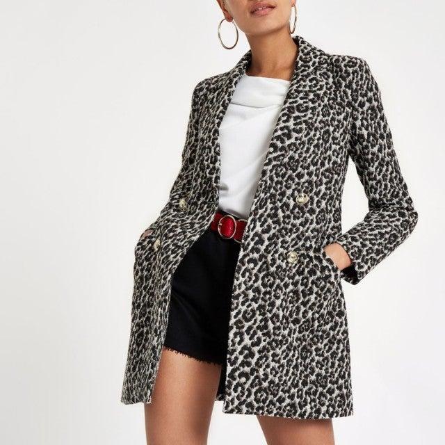 River Island leopard blazer