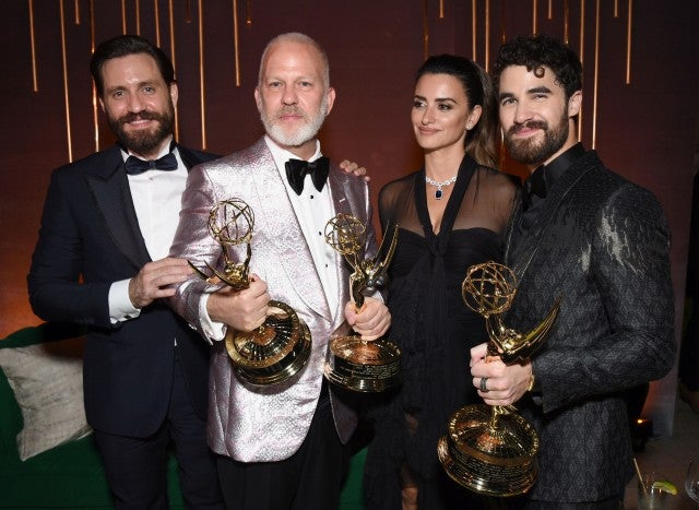 Edgar Ramirez, Ryan Murphy, Penelope Cruz, Darren Criss Fox Emmys After-party