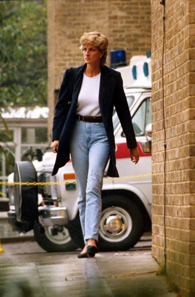 Princess Diana jeans and white tee