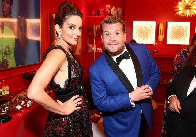 Tina Fey, James Corden Lindt Emmys Party