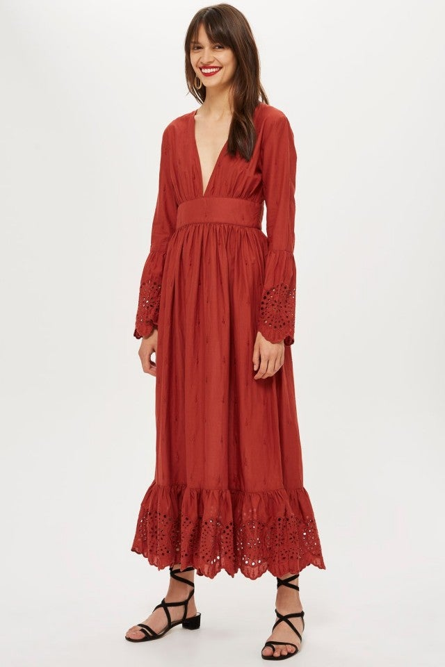 Topshop embroidered dress
