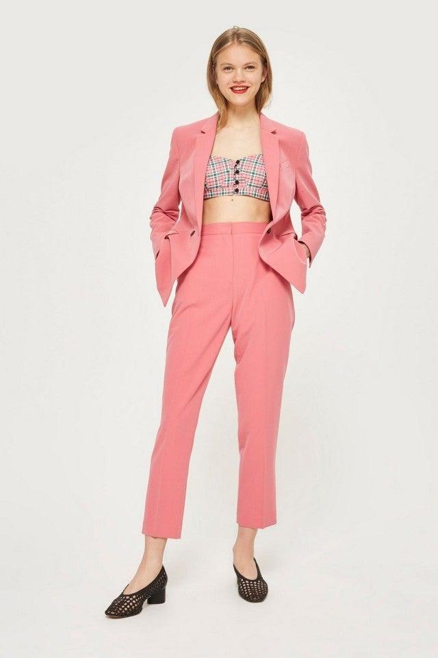 Topshop pink pantsuit