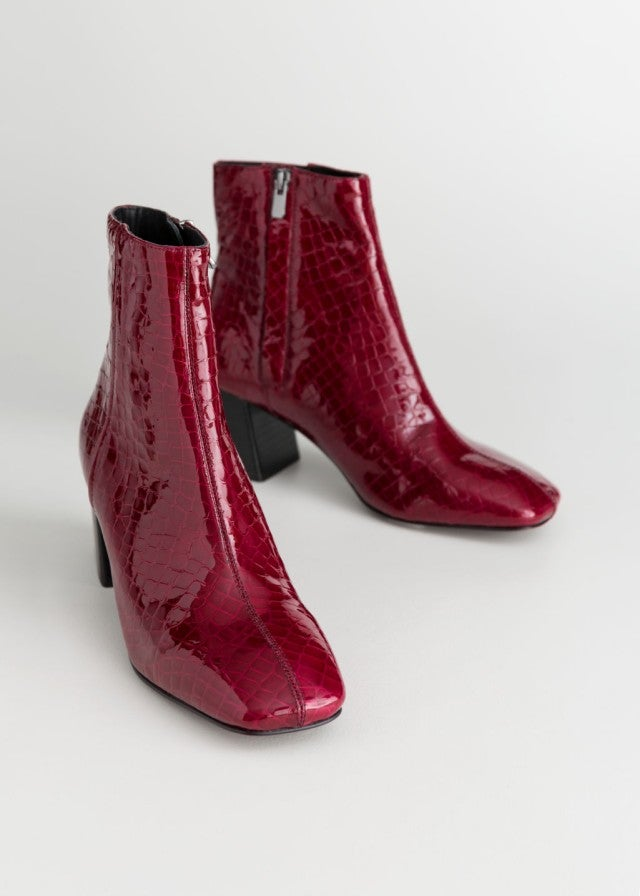 & Other Stories square toe boots