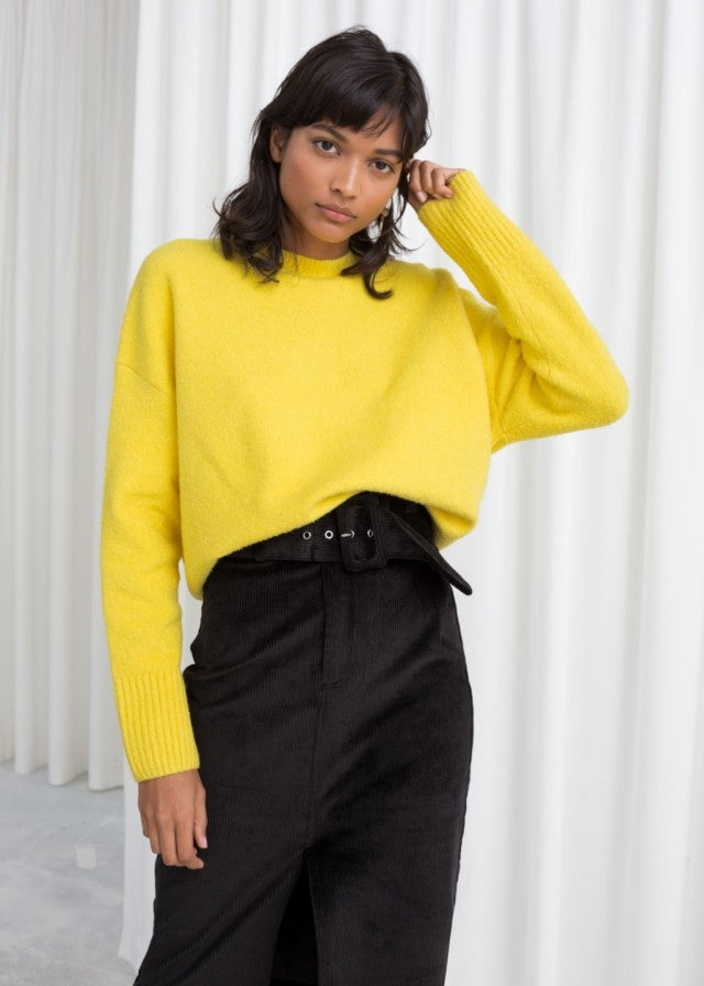 & Other Stories yellow sweater