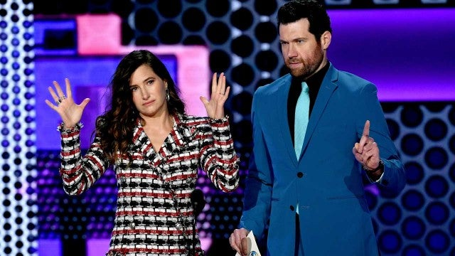 Billy Eichner and Kathryn Hahn at the 2018 American Music Awards