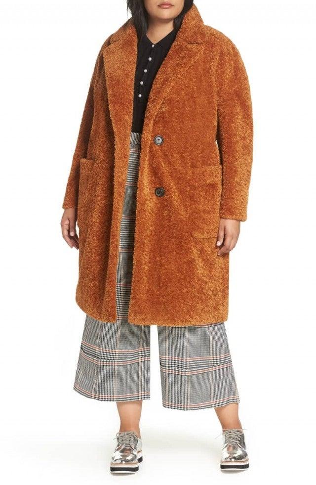 Atlantic-Pacific faux fur coat
