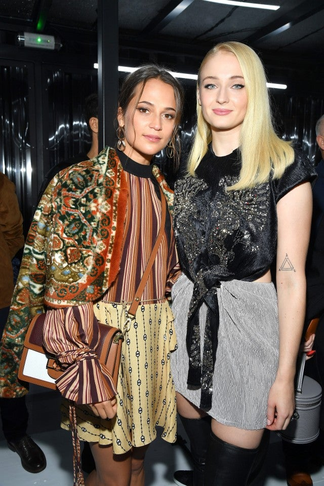 Alicia Vikander and Sophie Turner