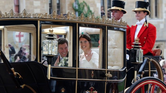 Jack Brooksbank Princess Eugenie Carriage Ride