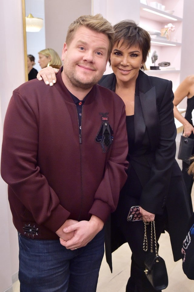 James Corden and Kris Jenner
