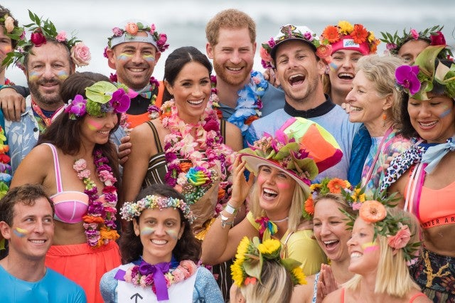 Prince Harry Meghan Markle Sydney Beach