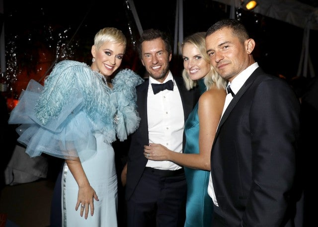 Katy Perry, Blake Mycoskie, Heather Lang, and Orlando Bloom