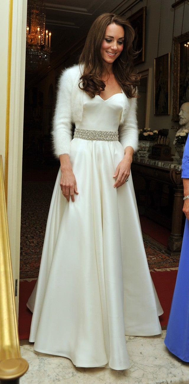 How Princess Eugenies Wedding Reception Dress Compares To Kate