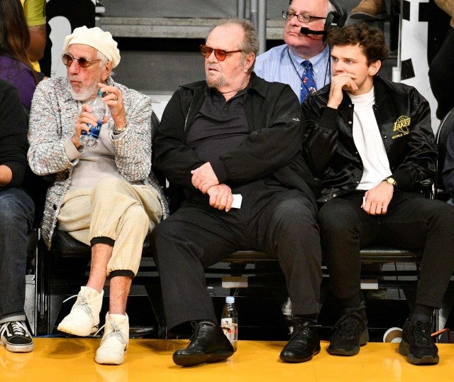 Jack Nicholson at the Los Angeles Lakers game at the Staples Center on Oct. 20