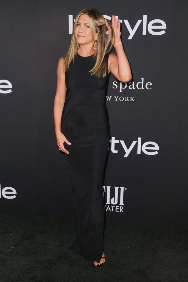 Jennifer Aniston Wows In A Fitted Black Gown As Her Hairstylist