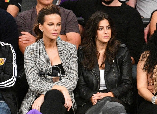 Kate Beckinsale at the Los Angeles Lakers game at the Staples Center on Oct. 20