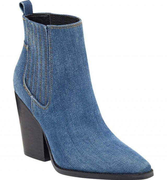 Kendall and Kylie denim western boots