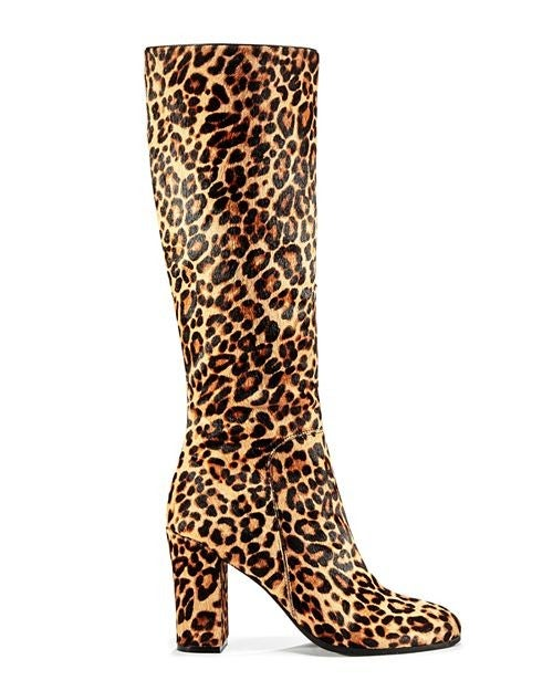 Kenneth Cole leopard boots