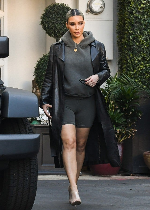 Kim Kardashian in bike shorts