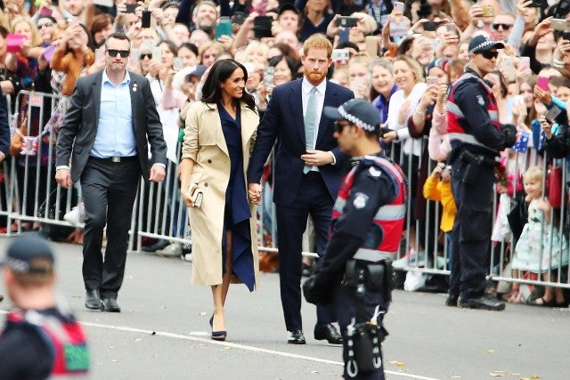 Prince Harry and Meghan Markle Melbourne